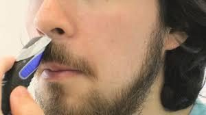Trimming moustache