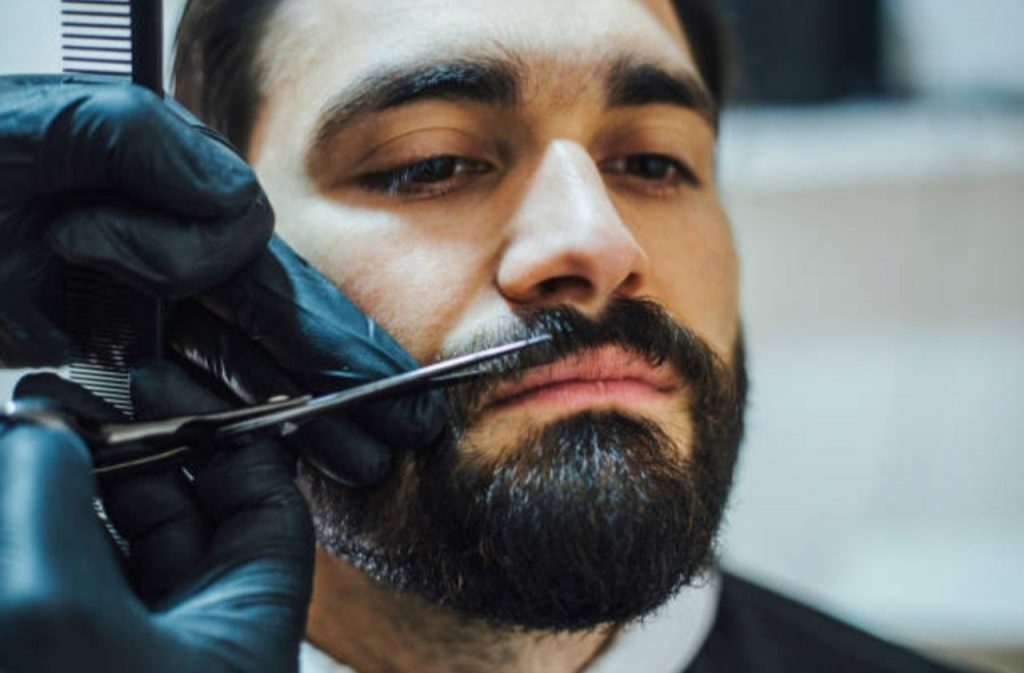 trimming mustache